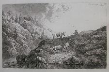 C. W. E. DIETRICH ´DIE ZUR TRÄNKE GETRIEBENEN OCHSEN´ L. 169, DIETRICY, 1768