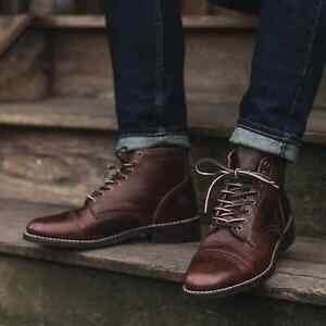 Thursday Boot Co Vanguard Cap Toe Lace Up Brown Leather Boot 10.5 New in Box