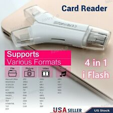 4 in1 i USB i-Flash Drive USB Card Memory Card Reader Adapter For iPhone Android