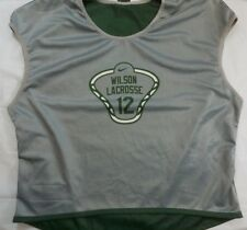 Nike Wilson Lacrosse Reversible Jersey Size Large Unisex Green Gray White #12