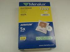 MENALUX 1202 DURAFLOW 5 X + FILTERS VACUUM CLEANER BAGS ELECTROLUX VOLTA