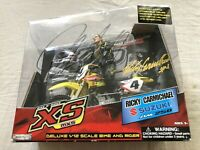 Ricky Carmichael signed auto 2005 Road Champs motocross supercross action figure