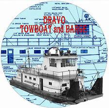"Model Boat PLAN 35 1/2"" Dravo Towboat 36"" Barge Radio Control Plan & Notes on CD"