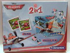Clementoni 138579 Edukit 2 In 1 Memo und Puzzle planes