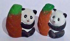 """Panda Bear Salt & Pepper Shakers 2.5"""" tall  New"""