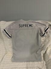 Supreme Blank Football Top Jersey Silver Black SS15  Medium