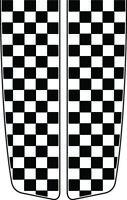 2 x Racing Stripes bonnet graphics vinyl stickers custom car van decals flag MED