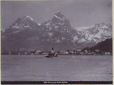 Brunnen die Mythen Switzerland Suisse Vintage citrate c. 1900