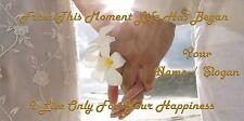 WEDDING DAY ( DESIGN 4 ) CUSTOM PRINTED BAR RUNNER PERSONALISED FREE