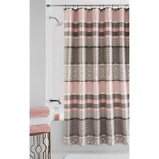 Mainstays Stripe Jacquard Princeton Shower Curtain NEW 70 x 72 Blush,Taupe
