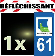 DEPARTEMENT 61 rétro-réfléchissant Plaque Auto 1 sticker autocollant reflectif