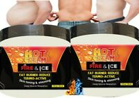 2 Men Slimming Cream Fat Burning Muscle Belly Stomach Reducer Gel Weight Loss US