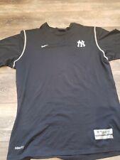 Nike Yankees Short Sleeve Baseball Compression Shirt Authentic Team Xl Dri-Fit