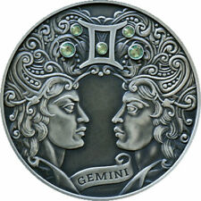 Belarus 2014 20 rubles Gemini Signs of the zodiac Antique finish Silver Coin