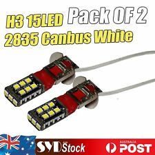 2 x Canbus White 15LED 2835SMD H3 Car Foglight Driving Light Headlight Lamp Bulb