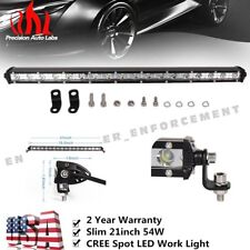 20inch 54W LED Single Row Work Slim Light Bar Spot OFFROAD DRIVING LAMP SUV ATV