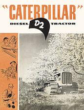 Caterpillar D2 Diesel Tractor Sales Book 1951