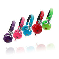 Kids Childs 3.5mm Stereo Headsets Headphones Over-Ear for iPod iPhone MP3 MP4 PC