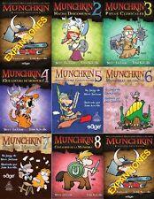 EXPANSIONES MUNCHKIN 2, 3, 4, 5, 6, 7 y 8 - JUEGO DE CARTAS - VENTA POR UNIDADES