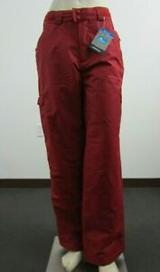 NWT Mens Columbia Snowtop Cargo Insulated Waterproof Snow Ski Winter Pants Red