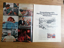 1970 Benson & Hedges Cigarette Ad  Pick Your Favorite Disadvantage Sweepstakes