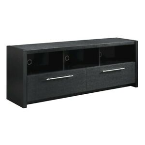 """Convenience Concepts Newport Marbella 60"""" TV Stand, Black - 131126BL"""