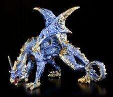 Drachen Figur blau Cobalt - Fantasy Statue Deko