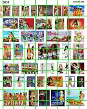 6031 DAVE'S DECAL ASSORTED 70'S 80'S 90'S MODERN SEXY GIRLS BEER POSTERS ADVERTS