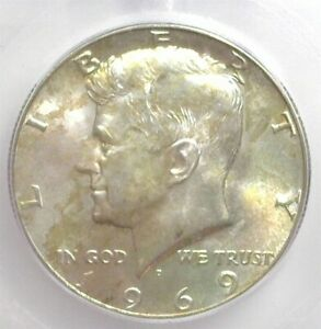 1969-D KENNEDY SILVER 50 CENTS ICG MS 66 LISTS FOR $125!!