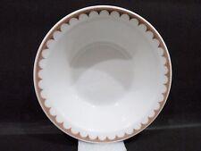 """Bristile - Rimmed Bowl  vgc  indented brown band  (6 1/2"""")  1988"""