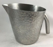 DW Haber & Son NY Pewter Creamer Hand Hammered 5105M Tempo Silver Metal 5 oz