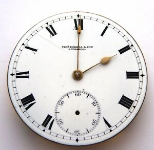 Antique 1900s Thomas Russell & Sons Liverpool Pocket Watch Mechanical Movement