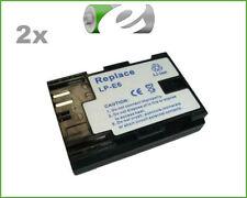 2x AKKU für Canon LPE6 LPE-6 LP-E6 für Batteriegriff BG-E7, BG-E9, BG-E13