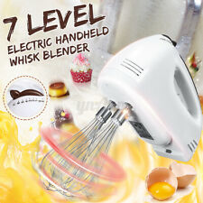 Hand Mixer Electric Hand Held Mixer Whisk Beater Blender Kitchen Cooking 7 Speed