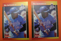 Bo Jackson Auburn 1989 Donruss Baseball SUPER RARE ERROR Card Lot  #208  Mint