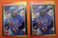Bo Jackson Auburn 1989 Donruss Baseball SUPER RARE ERROR Card Lot  #208  Mint