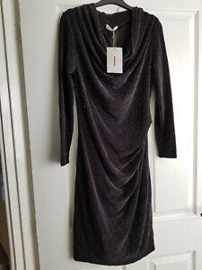 Jasper Conran Noir ceinturée robe-Workwear Taille 10 R