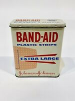 Vintage - Johnson & Johnson Band Aid Tin Plastic Strips Extra Large - Empty