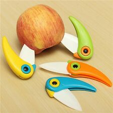 Mini Bird Pocket Sharp Ceramic Blade Folding Knives Kitchen Fruit Paring Knife