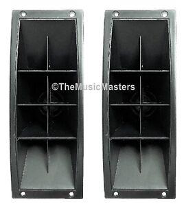 One Pair 3 x 9 Inch Piezo Flush Mount Horn TWEETERS Home Car Pro Studio Speakers