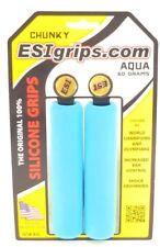 ESI CHUNKY SILICONE 32MM AQUA MTB BICYCLE GRIPS