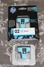 HP Genuine OEM Ink Cartridge 02 Lot New Expired 2 Light Cyan Factory Sealed