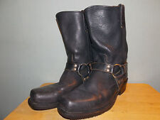 1990's Black Leather Bike Boots by Nitro Men's Size 11 D Used & Looking Good!