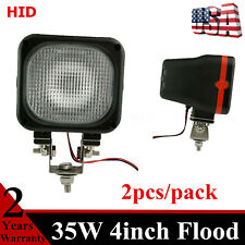 2PCS 35W Work Light HID Xenon Lamp Fits Front Jeep Truck 4WD Offroad 12V DC /55W