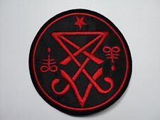 sigil of lucifer round red    EMBROIDERED PATCH