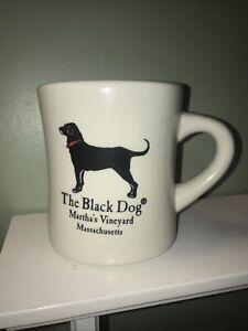 BLACK DOG RESTAURANT DINER WHITE CUP MUG MARTHA'S VINEYARD MASSACHUSETTS COFFEE