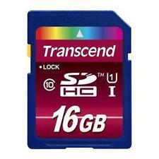 Transcend 16GB SDHC Card - OEM - TS16GSDHC10U1