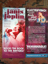 A Night with Janis Joplin theatre ad/flyer Broadway NYC closed