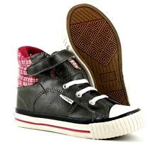 British Knights Infant Kids UK 9 EU 27 Dark Grey & Purple Mid Top Trainers Shoes