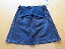 New Motherhood Maternity A-Line Knee Length Blue Jean Denim Skirt Size Small